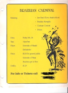 This is one of the flyers we used to promote the event.