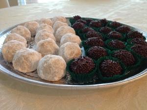 mexican wedding cookies and brigadeiro