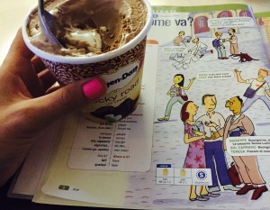 Häagen Daz Ice Cream from Publix. Italia Language Book, Sentieri.